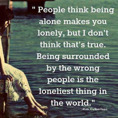 Being alone?